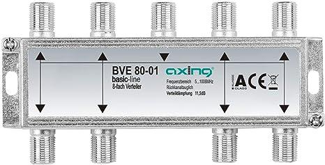 Axing BVE 80-01 - Distribuidor de antena (8 salidas, 5-1000 MHz) (importado)