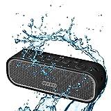 MOCREO® Water-resistant NFC Portable Bluetooth Speaker Rugged Splash Proof + Hands-free Speakerphone w/ Built-in Mic + Dual Stereo Speakers + TF Card Slot Indoor/Outdoors Waterproof Speaker IPX5 + Bluetooth 4.0 W/ NFC - MOSOUND Crater (Gray)