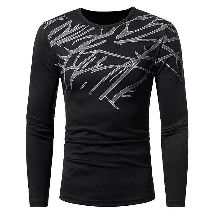Amazon.com: Longra - Camisa de manga larga para hombre con ...