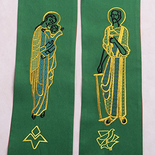 BLESSUME Priest Reversible Stole Embroidered Chasuble Stole by BLESSUME (Image #4)