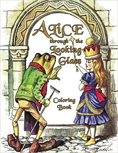 Amazon Alice Through The Looking Glass Coloring Book Illustrations For Lewis Carrolls Classic Work Now A Walt Disney Film Adaptation Starring Johnny
