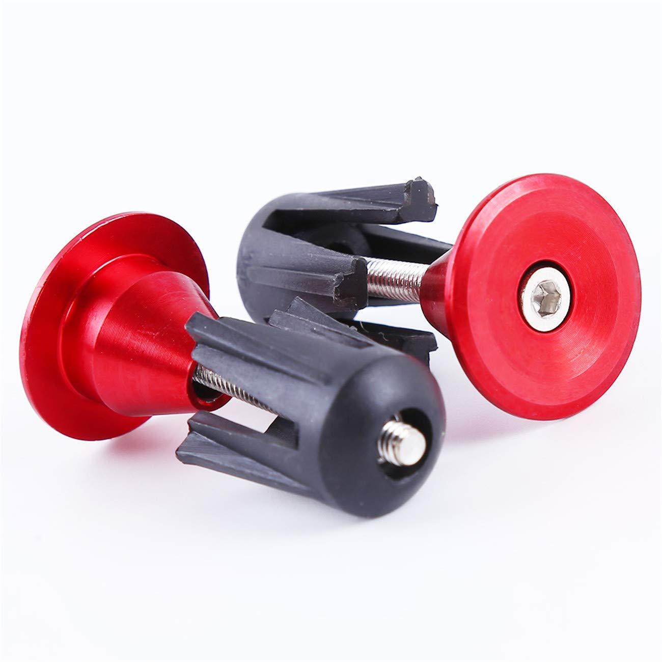 Bigsweety 1 Paire V/élo Guidon Casquette de V/élo Poign/ées en Alliage Daluminium Poign/ée de V/élo Bouchons Dextr/émit/é Pi/èces de Bicyclettes Rouge