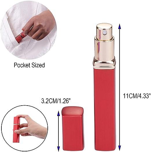 Atomizador de Perfume,Morbuy Mini Portátil Vacía Pulverizador Frascos Dosificador Recargable de Perfume de Afeitado con Bomba de Embudo y Pipeta para Viaje en Bolso (12ml, 3PCS): Amazon.es: Belleza