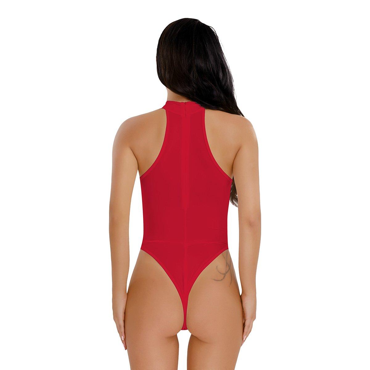 f8df5262b2 iEFiEL Body Damen elegant Bodysuit Ärmellos Shirt elastischer Body Tops  Overalls Jumpsuit 10037790-10037787- größeres Bild