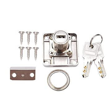 Security Furniture Lock Cabinet Drawer Cupboard Cam Lock Single Point Security Cam Lock with Keys for Display Cabinet Drawer Household Office 138-22
