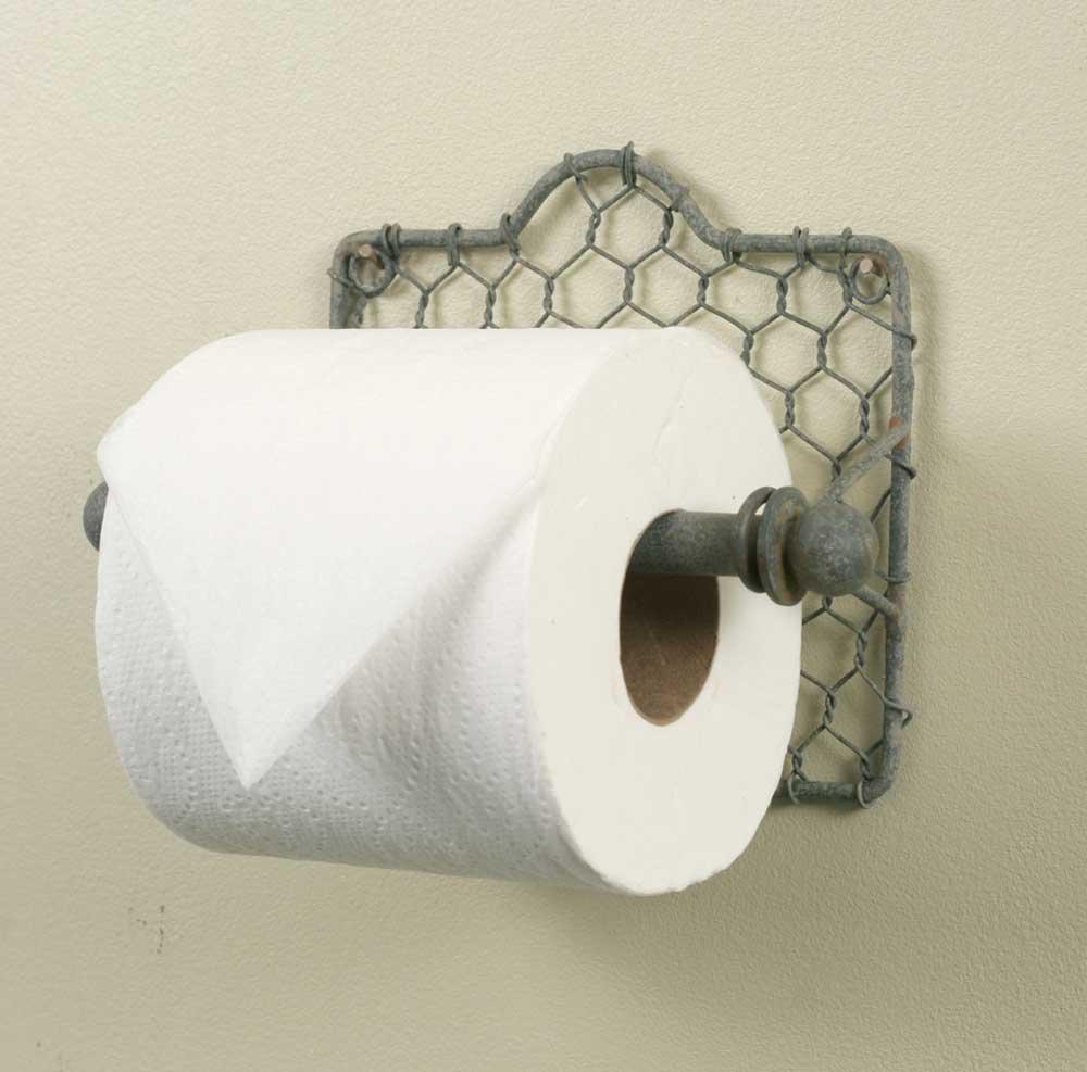 Colonial tin works chicken wire toilet paper holder chicken wire decor amazon com