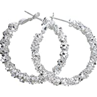 Amesii Women Jewelry Silver Plated Stars Hoop Earring
