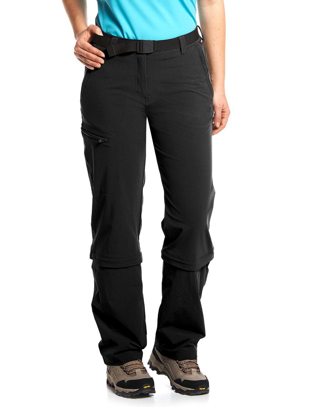 Noir (noir)  Maier Sports arolla Pantalon pour Femme Zip-Off