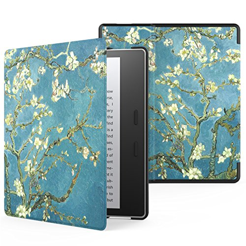 MoKo Case for All-New Kindle Oasis (9th Generation, 2017 Release) - Premium Ultra Lightweight Shell Cover with Auto Wake / Sleep for Amazon Kindle Oasis E-reader Case, Almond Blossom