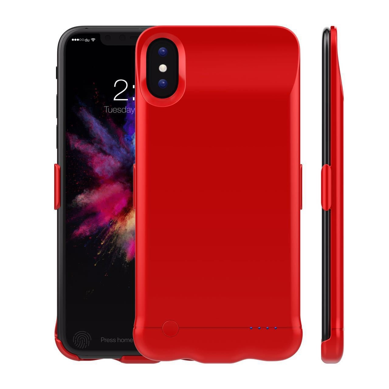 Funda iPhone X recargable 5200 mAh energía de la batería ...