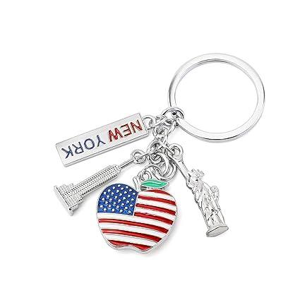 umerbee llavero 1PCS de la Estatua de la libertad I Love New York clave cadena Llaveros titular de la clave regalo