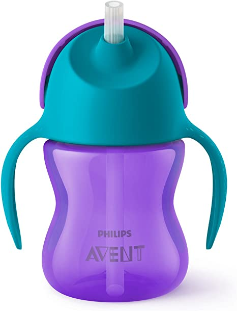 2pk SCF792//21 Philips Avent My Bendy Straw Cup 10oz Blue//Green