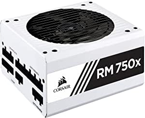 Corsair CP-9020187-UK 750 W RM750x Fully Modular ATX Power Supply - White