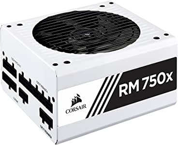 Corsair CP-9020187-UK 750 W RM750x Fully Modular ATX Power Supply - White