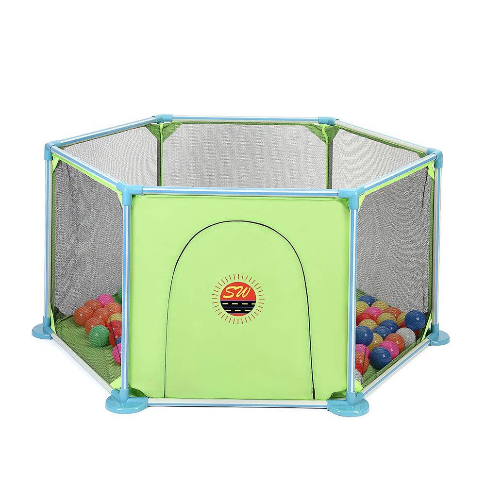 最高の ベビーサークル 赤ちゃん/幼児、子供のゲームのための緑のポータブルプレイペンフェンスメッシュ屋内遊び場遊び場 B07KQ7NW4S ベビーサークル、余分な背丈66cm B07KQ7NW4S, リビングプラザ:0c5b8951 --- a0267596.xsph.ru