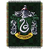 1 Piece 48 X 60 Green Harry Potter Theme Throw Blanket, Slytherin Shield Crest Houses Of Hogwarts Sc