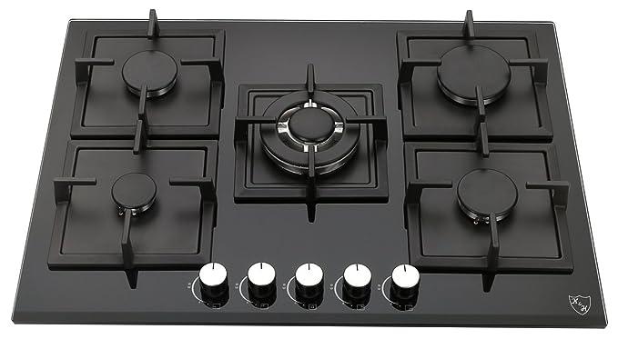 K&H Piano cottura a Gas 5 Fornelli 70cm 5Z-KHG