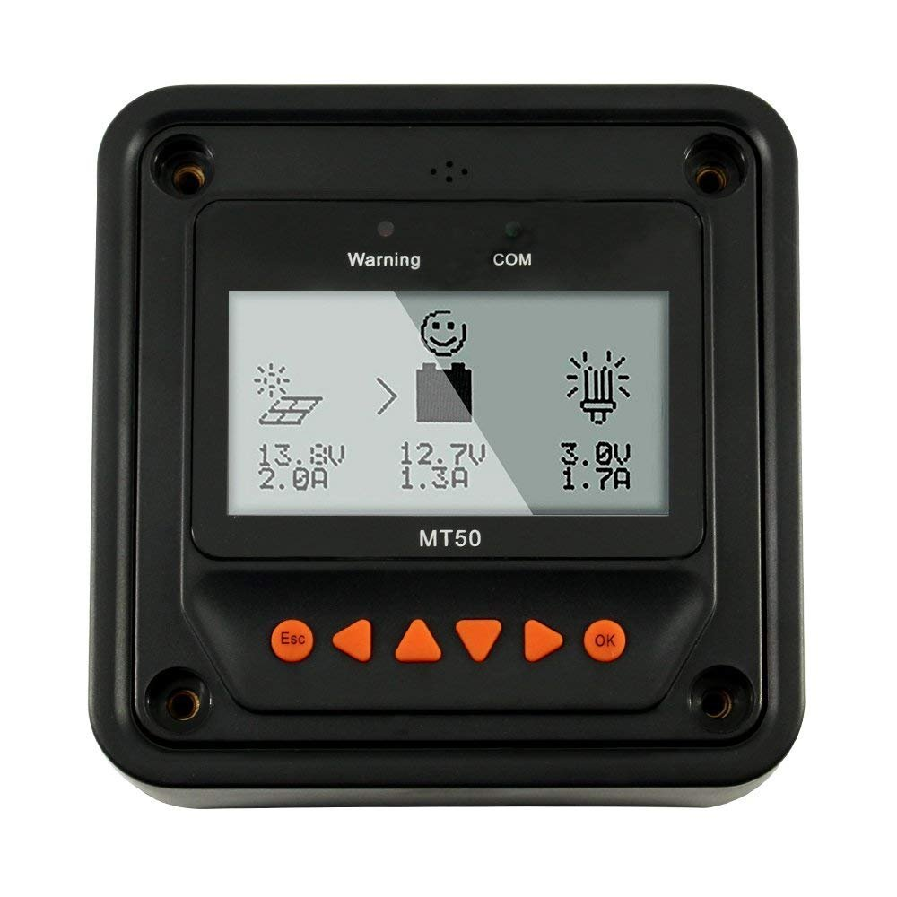 EPEVER MT-50 Remote Meter LCD Display,Compatible Tracer Series MPPT Charge Controller by EPEVER (Image #7)