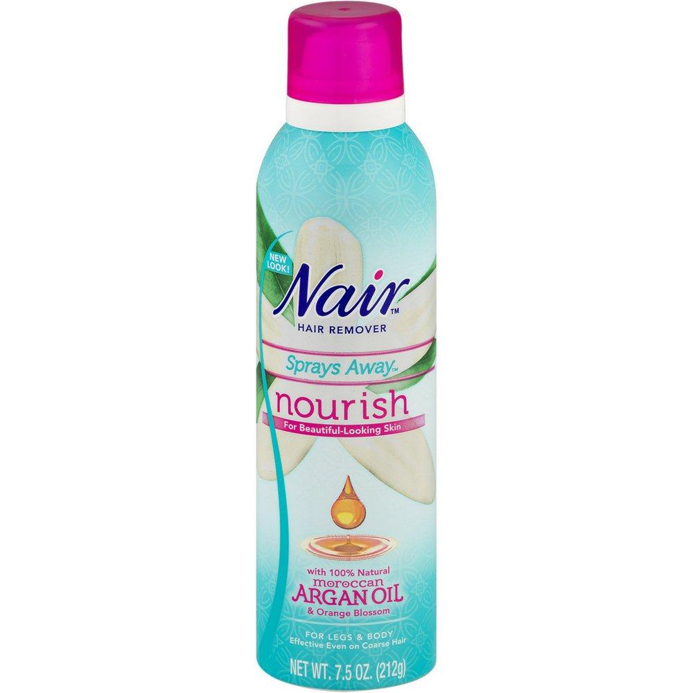 Nair Moroccan Argan Oil Sprays Away, 7.5 oz (Pack of 6) by Nair
