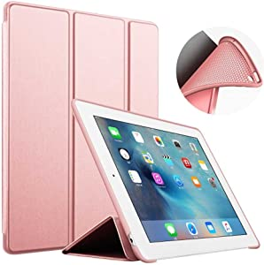 S-Tech iPad 10.2 Case 2020 iPad 8th Generation / 2019 iPad 7th Generation - Soft Silicone Cover Tablet Tri Fold Stand with Magnetic Smart Sleep/Wake Feature for Apple