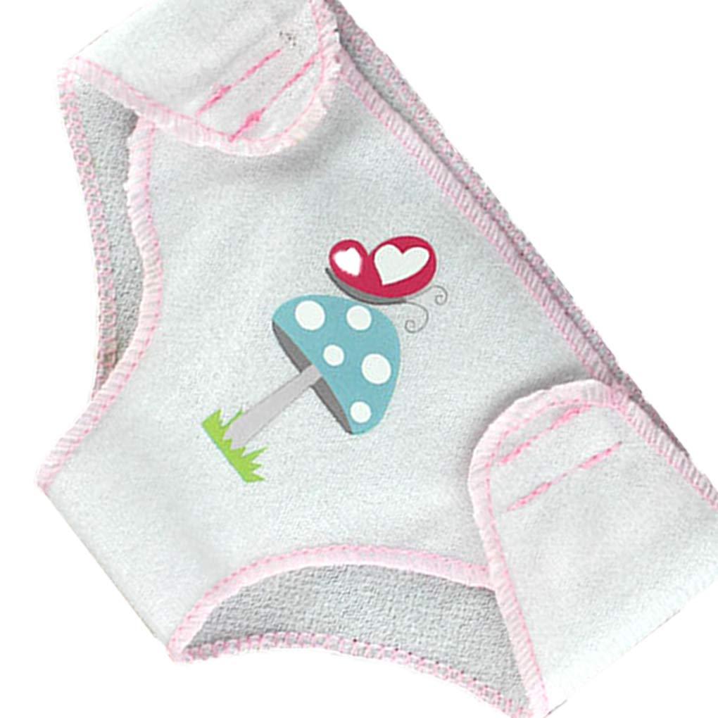 Masterein 3 Pcs Reusable Baby Dolls Interactive Cloth Diaper Pants Set Nappy 17 Inch 43cm Accessories