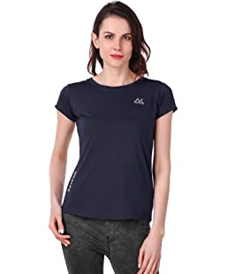 NIVIK, Sport wear, Casual Gym t-Shirt for Women. (Navy Blue, Medium)
