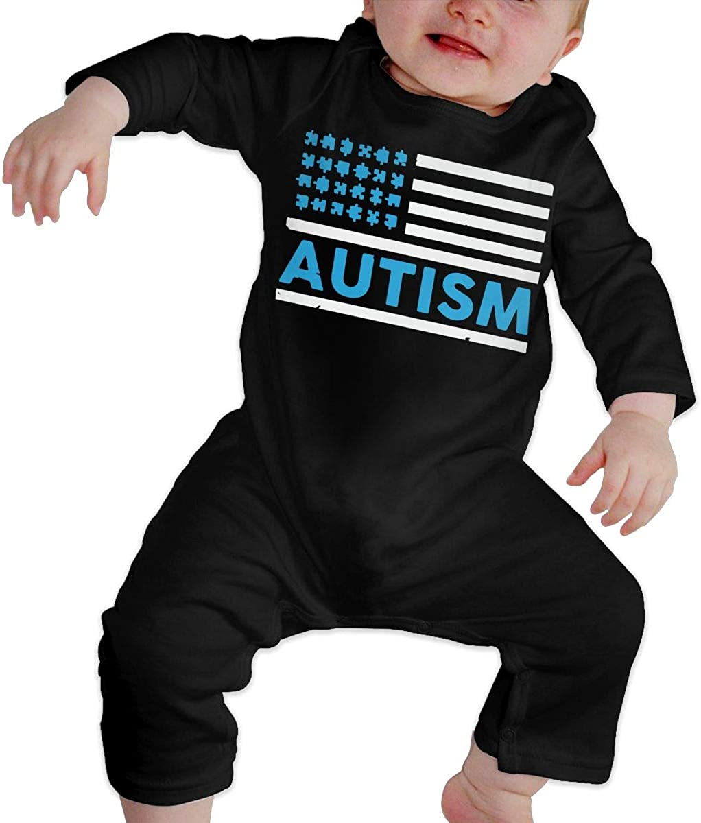 Autism Flag Organic One-Piece Kid Pajamas Clothes BKNGDG8Q Newborn Baby Boy Girl Romper Jumpsuit