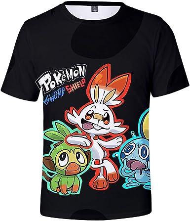 Pokémon Espada y Escudo Novedad Camiseta de Manga Corta Unisex ...