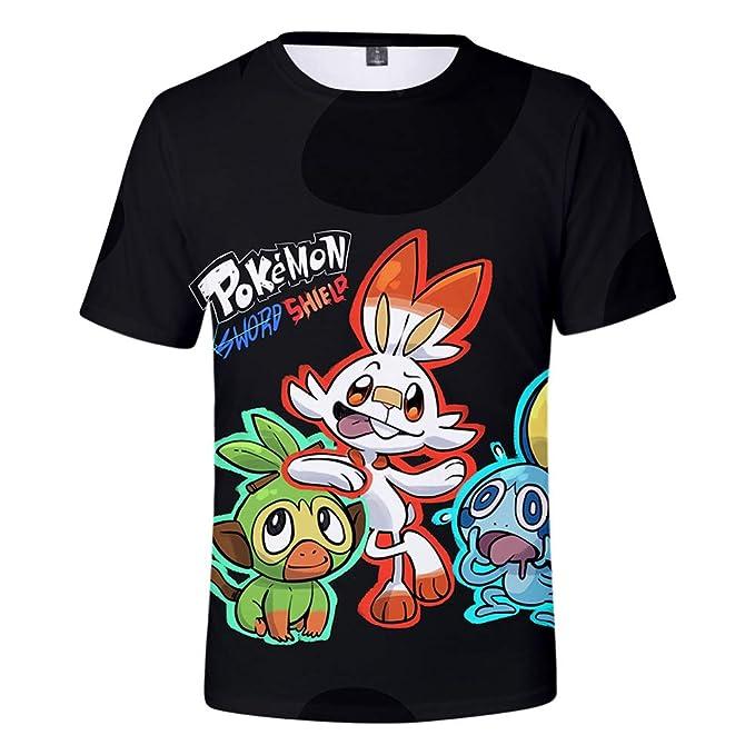 Pokémon Espada y Escudo Novedad Camiseta de Manga Corta ...