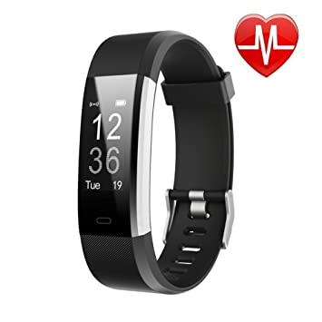 LETSCOM Fitness Tracker HR, Activity Tracker Watch with Heart Rate Monitor,  Waterproof Smart Fitness Band with Step Counter, Calorie Counter,