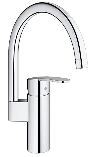 Grohe Küchenwasserhahn, Design: Europäisch/kosmopolitisch (hoher Auslauf,  0/150/360 Grad Schwenkbereich, Starlight Und Silkmove): Amazon.de: Baumarkt