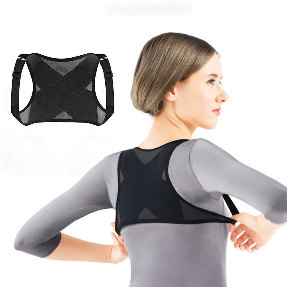 Aptoco réglable Correcteur de posture du haut du dos afin d'améliorer la posture de Bad, Haut du dos Soulagement de la douleur pour homme et femme