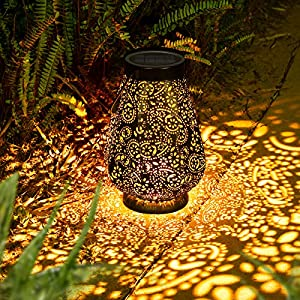 LED Solarlaterne für außen, Garten Deko Metall Solar laterne für Außen mit IP65 Wasserdicht, JOYCREATOR Hängend…