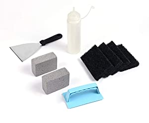 Heavy Duty Griddle Cleaning Kit, Grill Cleaner Set Griddle Cleaner Kit 9 Piece