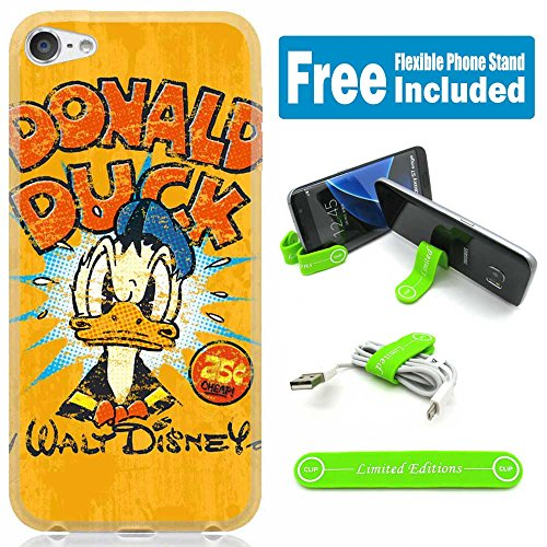 [Ashley Cases] For Apple iPhone 8 / iPhone 7 Cover Case Skin with Flexible Phone Stand - Donald Duck Vint Yellow