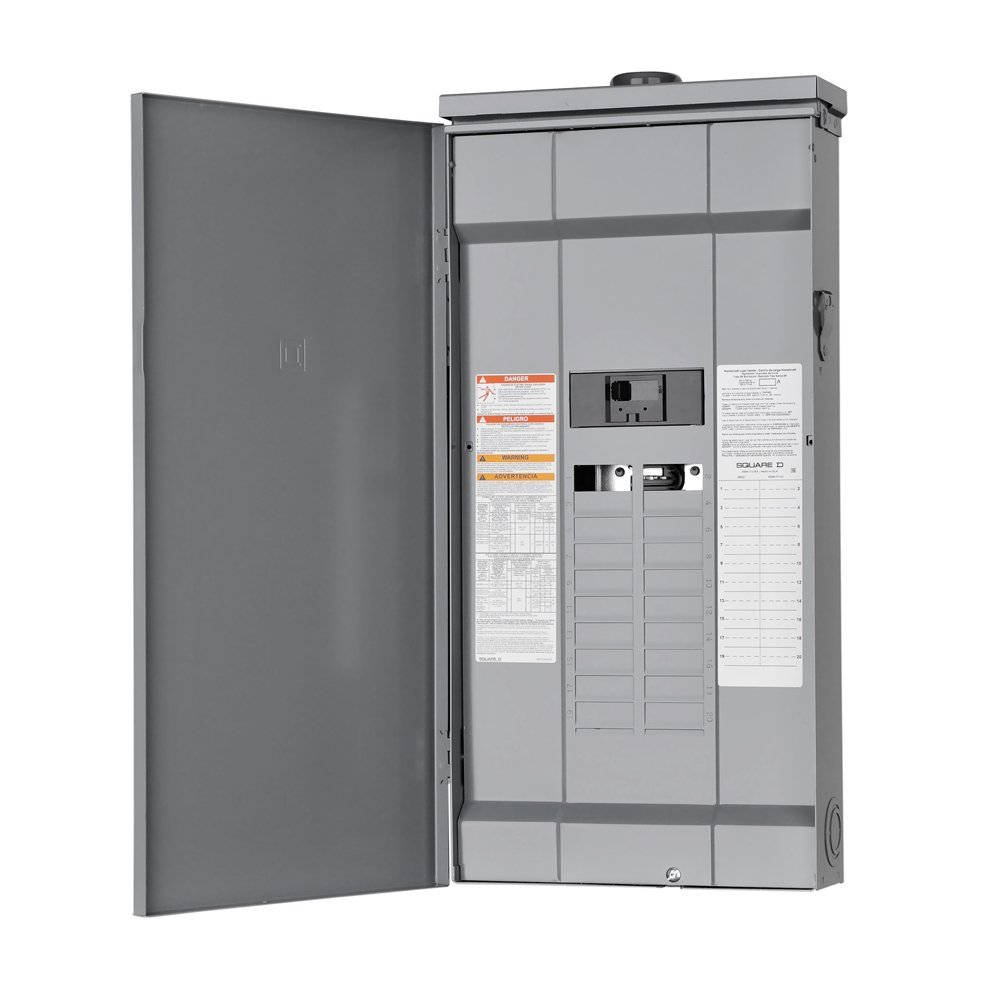 Square D by Schneider Electric HOM2040M200PRB Homeline 200 Amp 20-Space 40-Circuit Outdoor Main Breaker Load Center (Plug-on Neutral Ready), ,