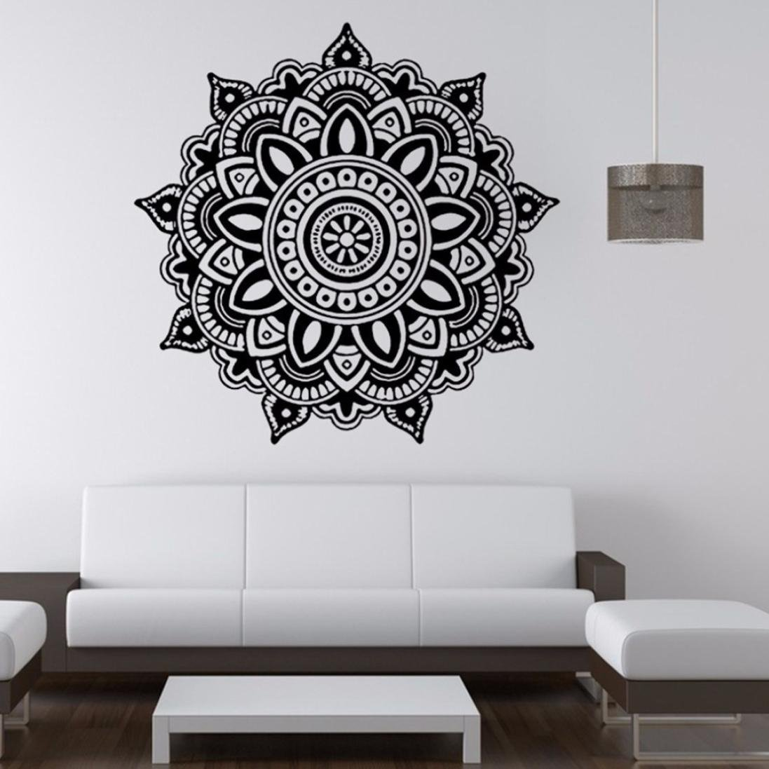 Amazon wall stickerlaimeng indian mandala flower mural home amazon wall stickerlaimeng indian mandala flower mural home vinyl family bedroom wall decal home kitchen amipublicfo Images