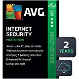 AVG Internet Security 2021 | Antivirus Protection Software | 10 Devices, 2 Years [PC/Mac/Mobile Download]