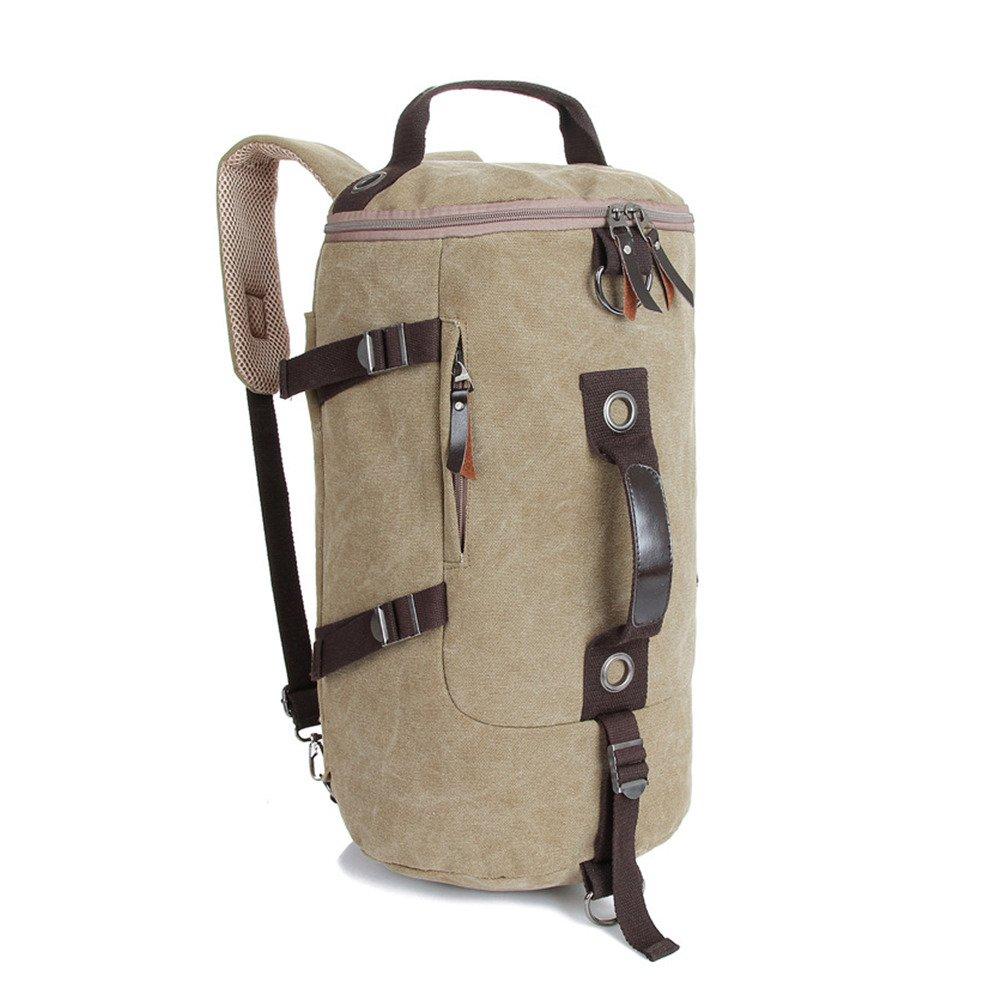 Airstomi Men's Vintage Cotton Canvas Shoulder Outdoor Trekking Rucksack Bag Travel Hiking backpack