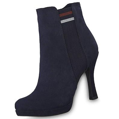 Tamaris Damen Stiefeletten Blau, Schuhgröße:EUR 39