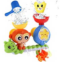 ANEAR Bath Toys for Toddlers Kids Babies 1 2 3 Year Old Boys Girls Bathtub Toy with 2 Toy Cups Strong Suction Cups Ideas Color Box