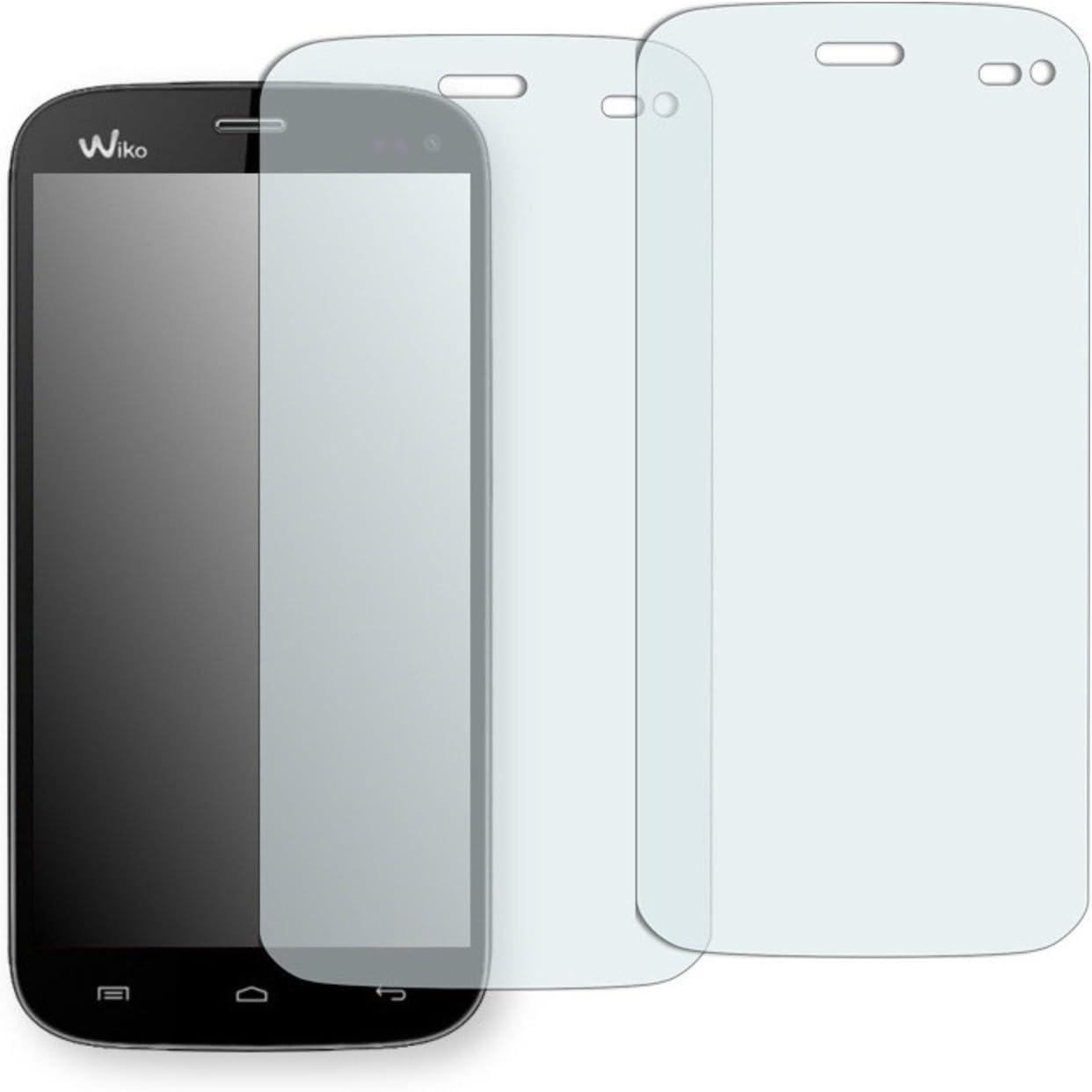 2x Golebo Semi-Matt protectores de pantalla para Wiko Darkmoon - (efecto antirreflectante, montaje muy fácil, removible sin residuos)
