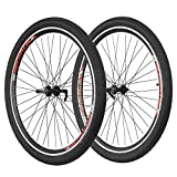 CyclingDeal Mountain Bike 29'' V-Brake Wheelsets For Thread on Freewheel Only QR Front & Rear