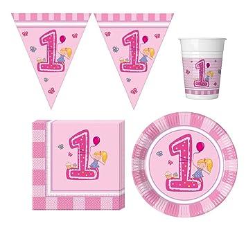 37 piezas Party - Vajilla para bebés Primer Cumpleaños ...