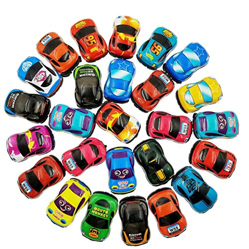 Pull Back Vehicles,30 Pack Friction Powered Pull Back Car Toys,  Vehicles and Racing cars Mini Car Toy For Kids Toddlers Boys,Pull Back and Go Car Toy - Mini Pull