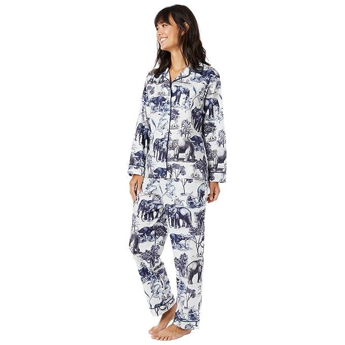 Amazon.com: El Gato De Pijama Safari Toile Blanco Pijama ...