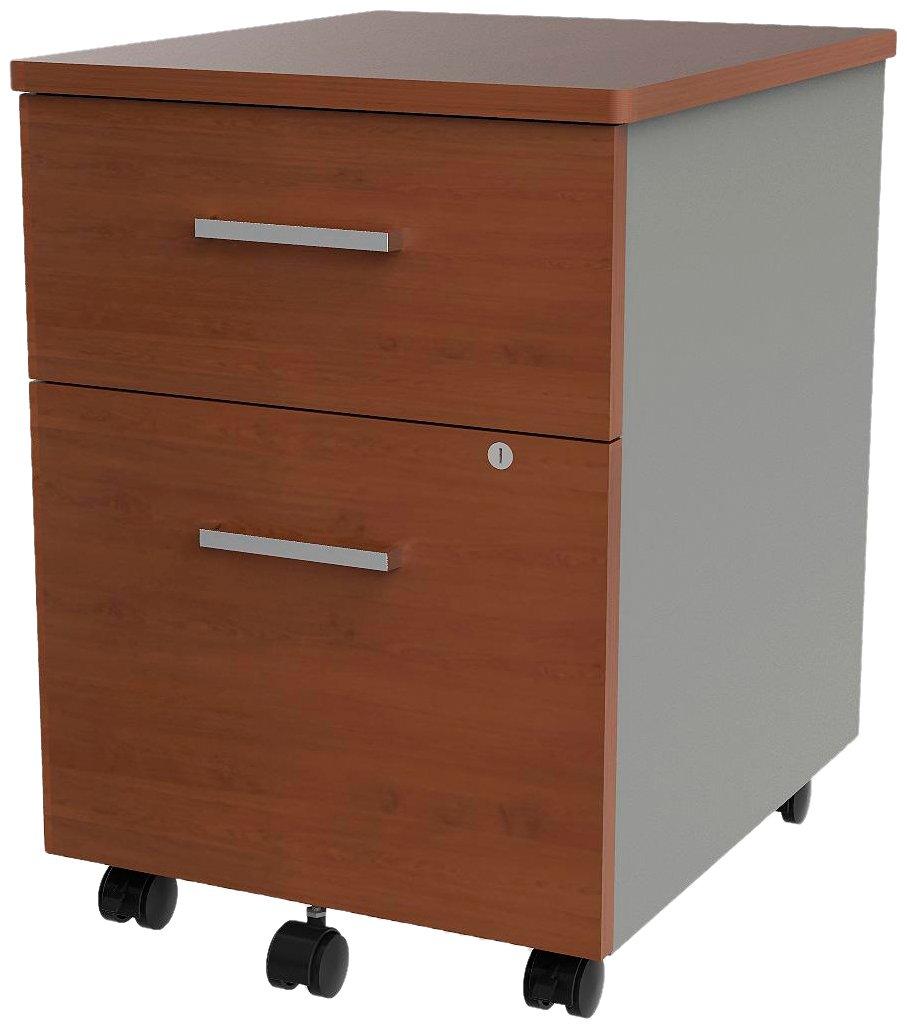 Linea Italia ZUC106 Filing Cabinets, Cherry/ Silver