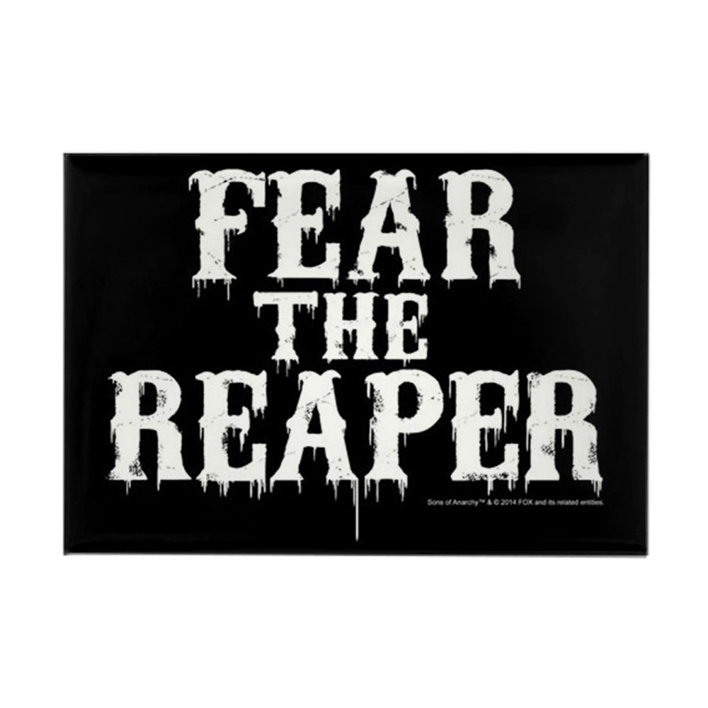"CafePress SOA Fear The Reaper Rectangle Magnet, 2""x3"" Refrigerator Magnet"