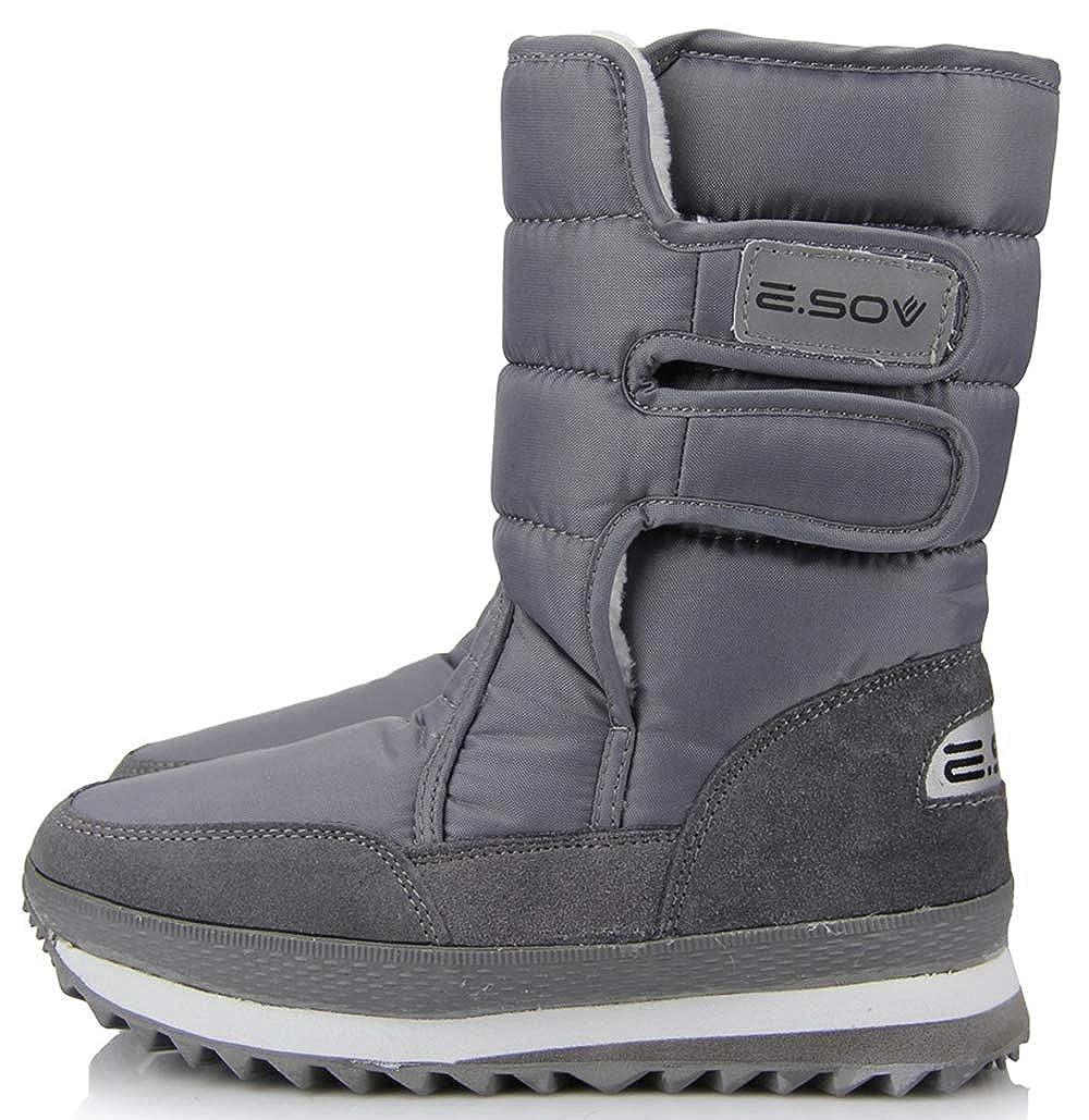 Grey XIANV Women Snow Boots Anti-Slip Soles Waterproof Non-Slip Warm Padded shoes