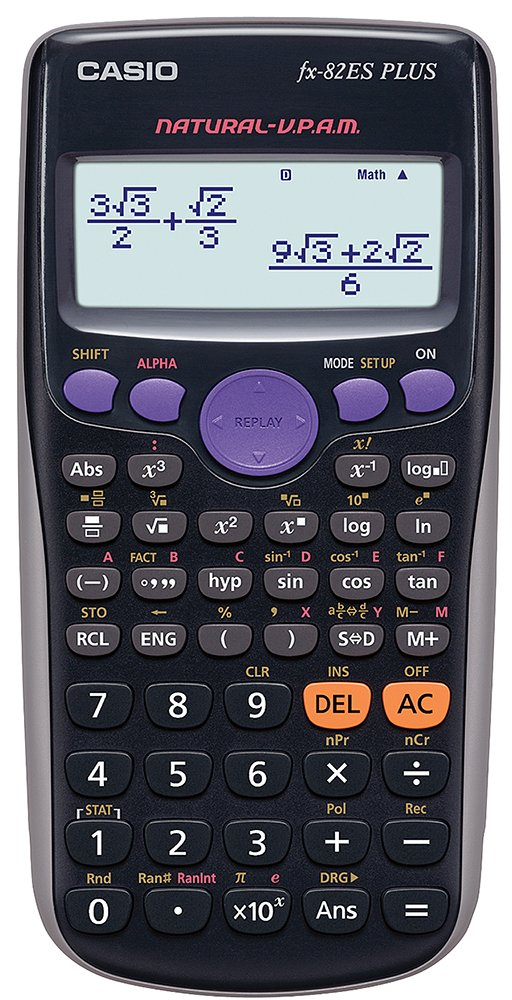 Casio FX-82ES - Calculadora, 80 x 162 x 13.8 mm, negro product